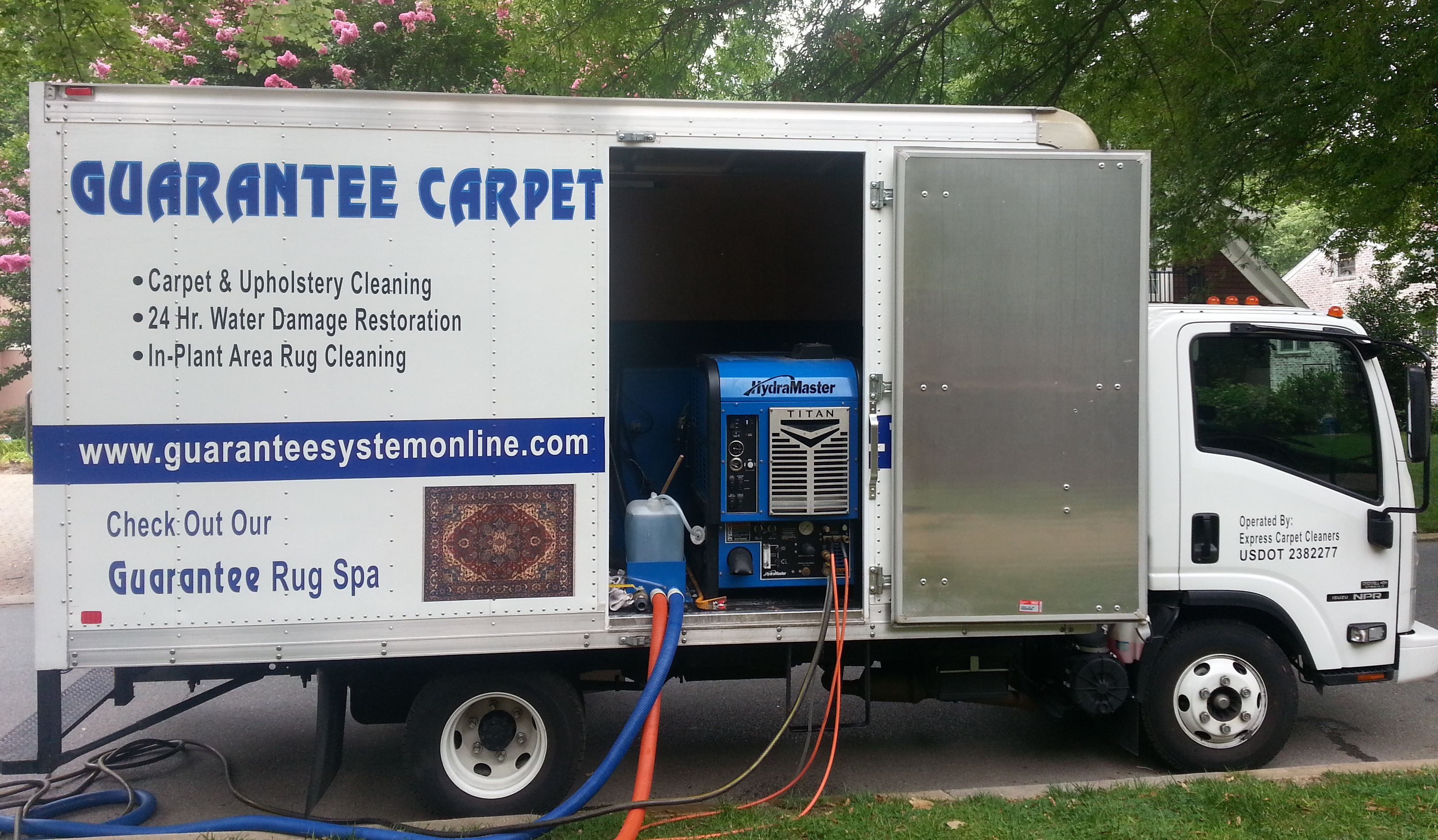 Guarantee Box Truck On The Job Guarantee Carpet Cleaning